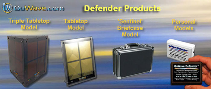 QuWave Defender products to protect against electronic harassment