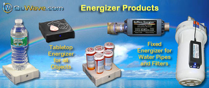QuWave Energizer products to infuse food with scalar energy