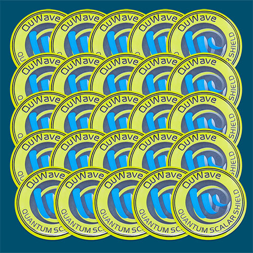 25 EMF neutralizing stickers