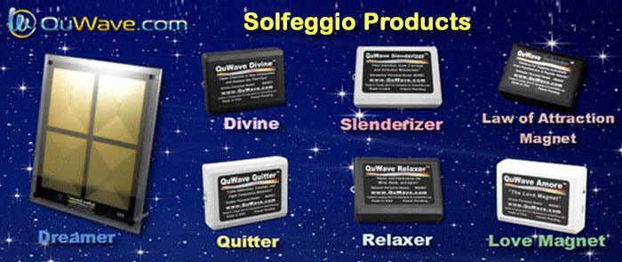 QuWave Solfeggio frequency products